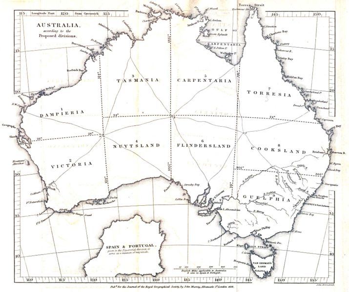 Map Of Australia 1901.Ten State Australia The Commonwealth Of Australia Was Formed In